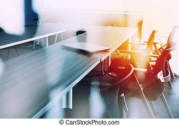 réunion, résumé, fond, salle, business