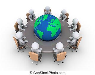 réunion, sur, global, problèmes