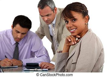 réunion, trois, professionnels