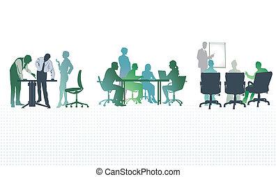 réunions, bureau