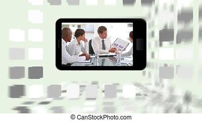 réunions, sm, vidéos, business