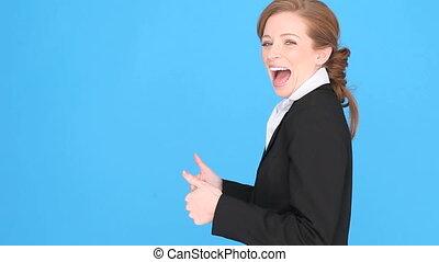 réussi, femme affaires