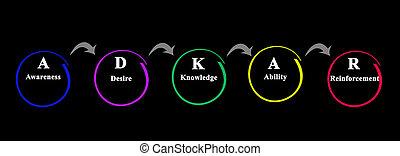 réussi, méthodologie, par, changement, adkar