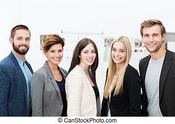 réussi, partenaires, business
