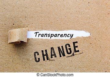 réussi, stratégies, -, changement, transparence