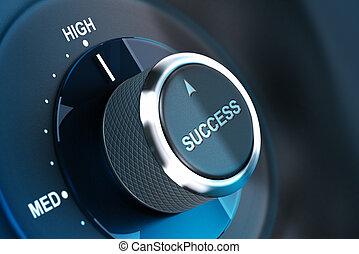 réussir, success., niveau, élevé