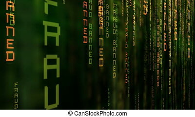 révéler, code binaire, matrice, informatique, fond, fraude, données