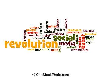 révolution, mot, nuage