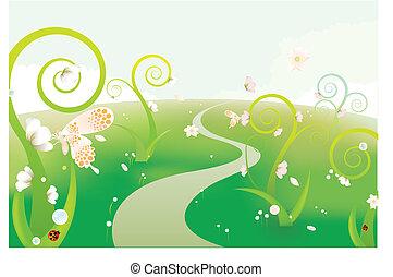 rêve, jardin