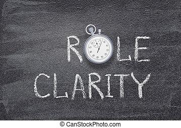 rôle, clarté, montre