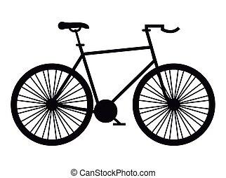 race vélo, monochrome