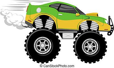 race voiture, monstertruck