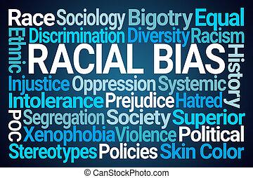 racial, bias, mot, nuage