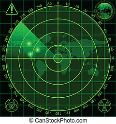radar, écran