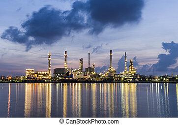 raffinerie, bangkok, plante