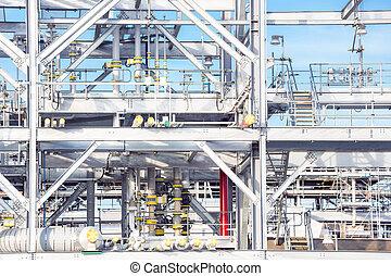 raffinerie, plante, usine