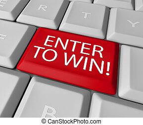 raffle, loto, concours, gagner, clef informatique, entrer, dessin
