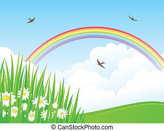 rainbow., paysage