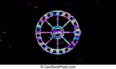 rainure, graphics., jackpot., mouvement, banner., sevens, gagnant, chanceux, machine
