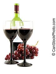 raisins rouges, vin