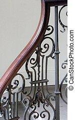 rampe, escalier, géorgien
