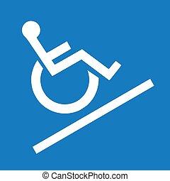 rampe, icône, route, vecteur, disables, illustration, signe