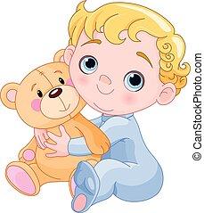 ramper, ours bébé, &, teddy