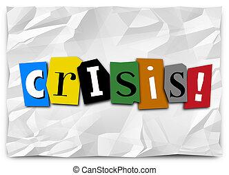 rançon, urgence, crise, note, situation urgente, ennui, problème