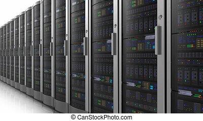 rang, réseau, serveurs