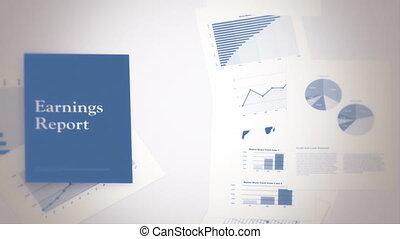 rapport, concept, revenus, boucle