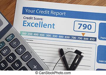 rapport, crédit, partition