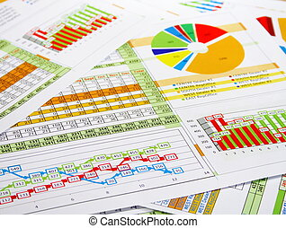 rapport, diagrammes, diagrammes
