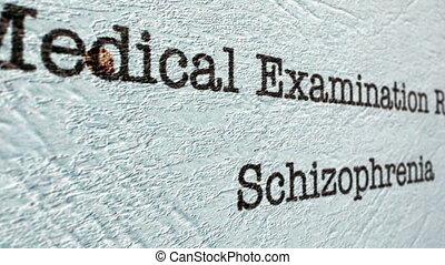 rapport, schizophrénie, monde médical