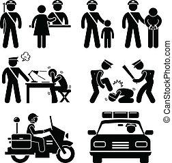 rapport, station, police, policier