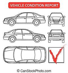 rapport, voiture, condition, (car, chèque