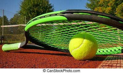 raquette, boule tennis, professionnel