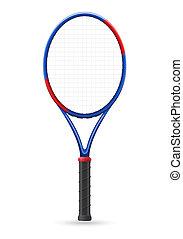 raquette, tennis, vecteur