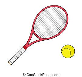 raquette, tennis