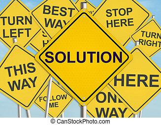 raster, illustration., solution., ciel, signe, arrière-plan., route