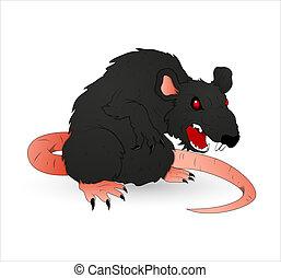 rat, halloween, terrifiant