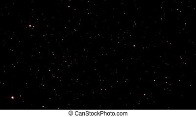 rayon, espace, explosion légère, étoile