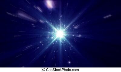 rayon, espace, lumière, mouche, étoiles