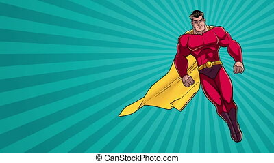 rayon, fond, 2, lumière, superhero, voler