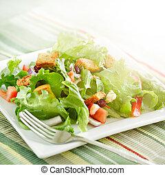 rayonner, salade, lumière soleil
