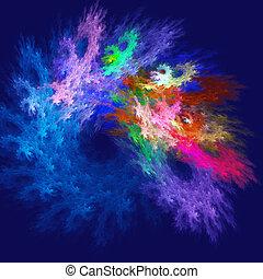 rayons, coloré