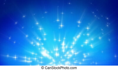 rayons légers, étoiles, fond