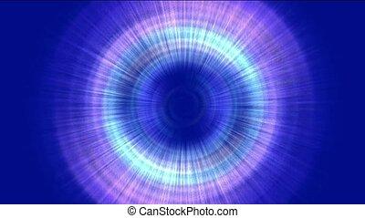 rayons, laser, &, tunnel, space., rotation, turbine, halo