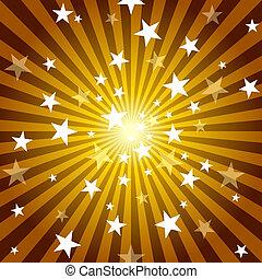 rayons soleil, étoiles