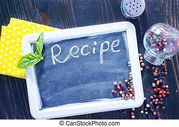 recette, planche