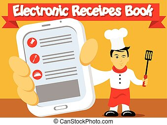 recettes, livre, électronique